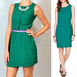 J. Crew Half-Placket Emerald Dress